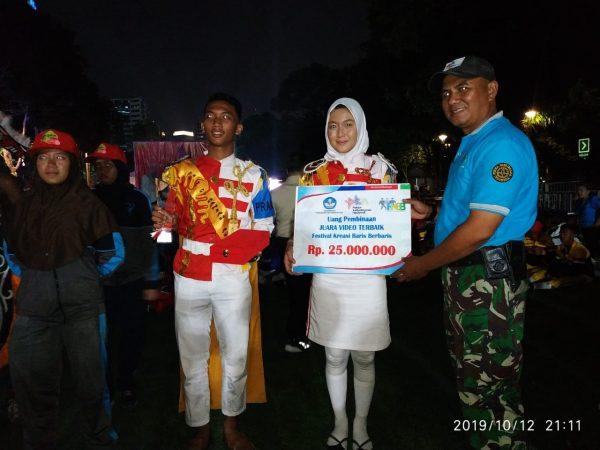 Tonti/Paskibraka JUARA VIDEO TERBAIK FESTIVAL Kreasi Baris Berbaris Pekan Budaya Nasional 2019 Di ISTORA SENAYAN GBK JAKARTA