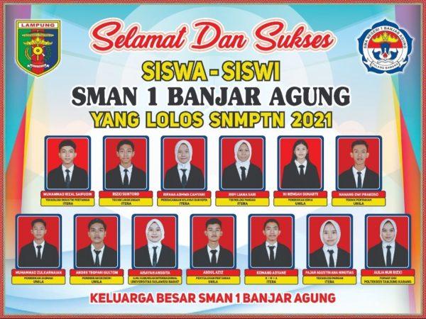 SISWA SISWI LOLOS SNMPTN 2021